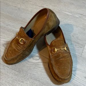 Vintage Men's Classic Gucci Suede Leather Loafers